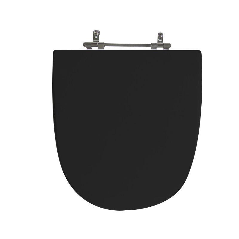 Assento Sanitário Poliéster Para Louça Celite Mondiale Liso Preto
