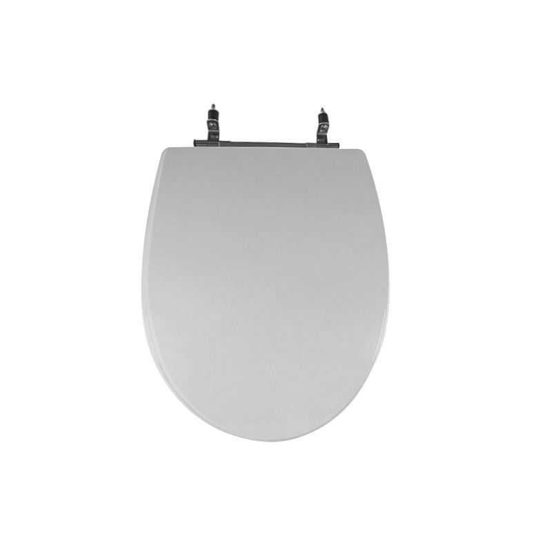 Assento Sanitário Poliéster para Louça Absolute (Ideal Standard) Aço Cromado (Reb. Oculto) Sterling Silver