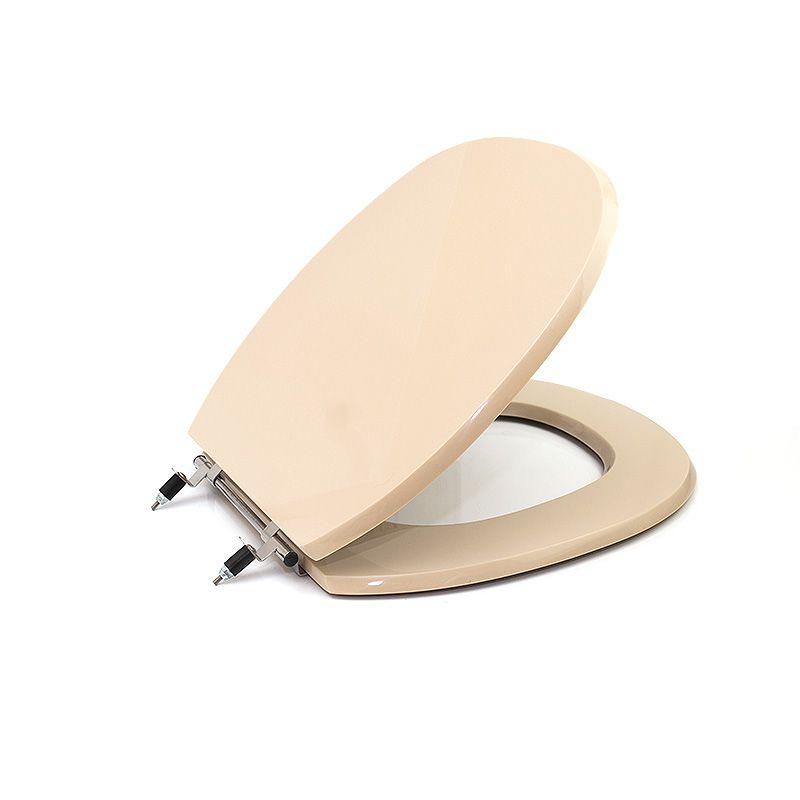 Assento Sanitário Poliéster para Ideal Standard Ascot Liso Aço Especial (Reb. Oculto) Visone Sedile