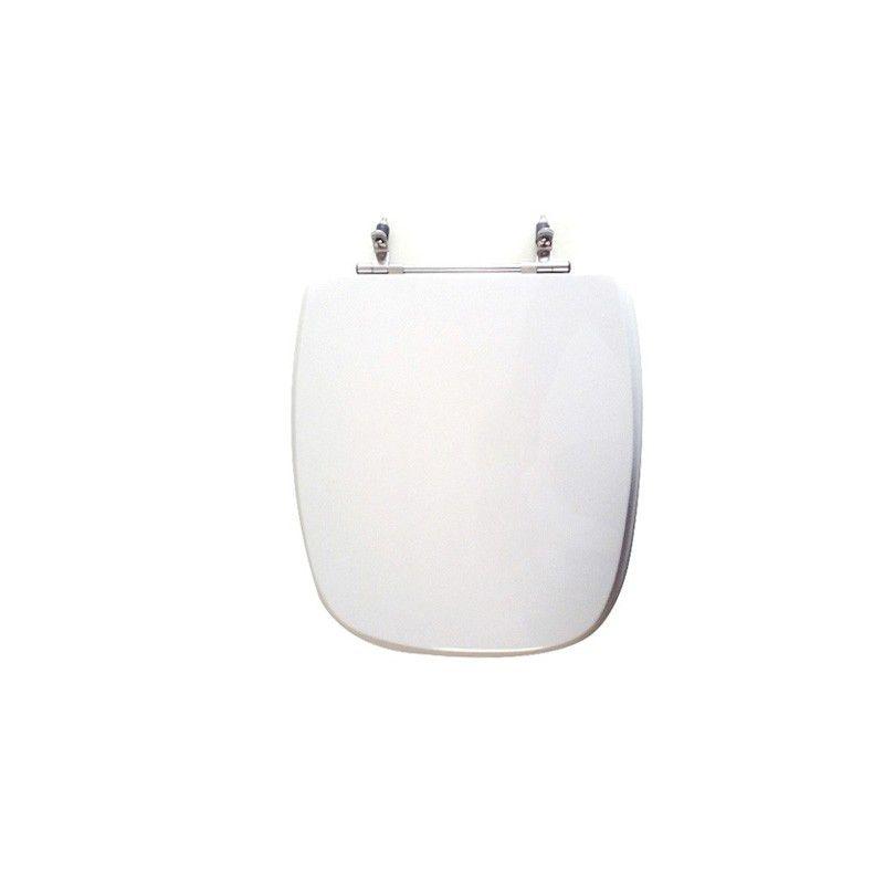 Assento Sanitário Poliéster para Louça Angra/Avant/City (Logasa/Incepa/Celite) Aço Cromado (Reb. Oculto) Branco