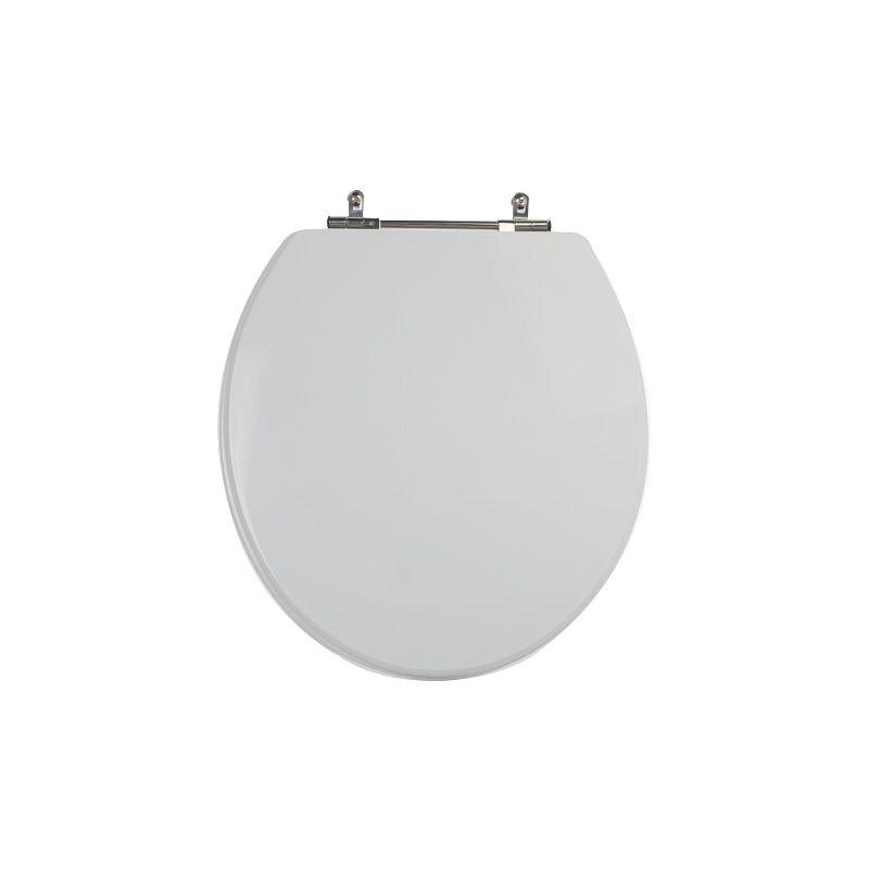 Assento Sanitário Poliéster para Louça Áries (Eternit) Aço Cromado (Reb. Oculto) Cinza