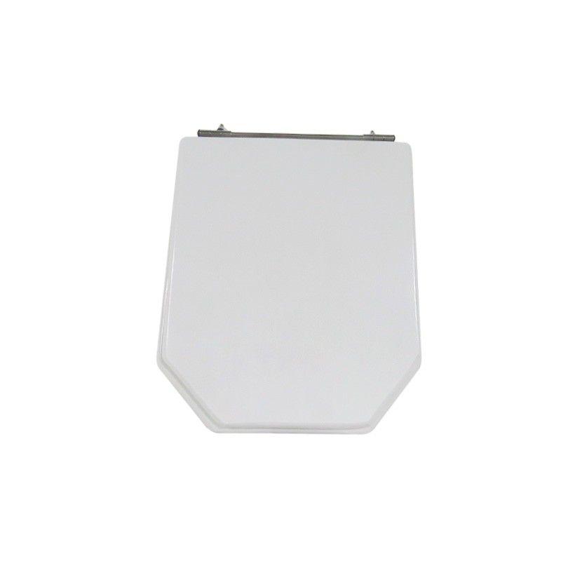 Assento Sanitário Poliéster para Louça Atrium (Incepa) Aço Cromado (Reb. Oculto) Branco