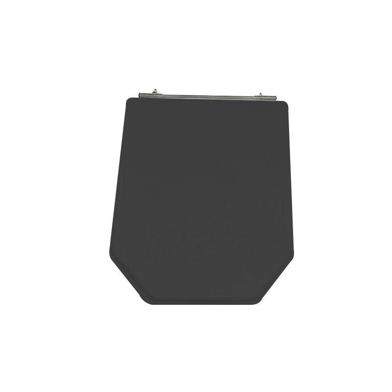 Assento Sanitário Poliéster para Louça Atrium (Incepa) Aço Cromado (Reb. Oculto) Preto