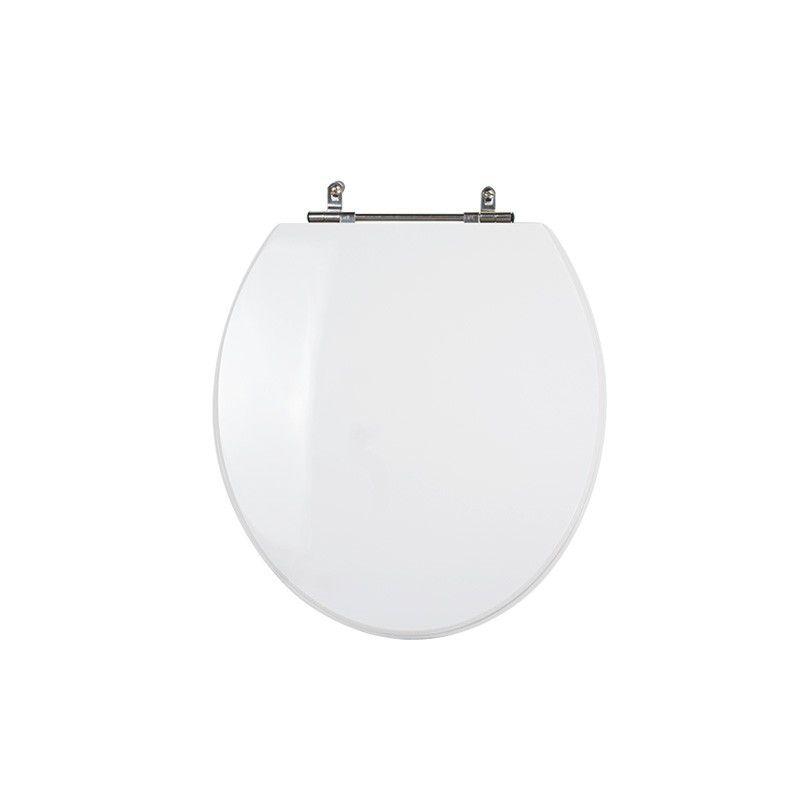 Assento Sanitário Poliéster para Louça Azálea/Standard/Carina/Flamingo/Fiore/Sabará Aço (Reb. Oculto) Branco