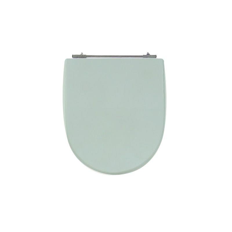 Assento Sanitário Poliéster para Louça Calypso (Incepa) Aço Cromado (Reb. Oculto) Verde Água