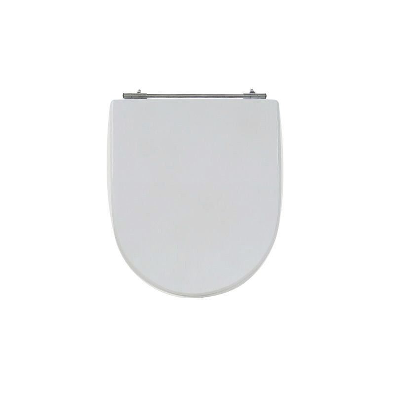 Assento Sanitário Poliéster para Louça Calypso (Incepa) Aço Cromado (Reb. Oculto) Cinza Platina