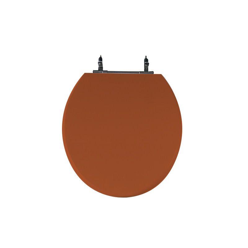 Assento Sanitário Poliéster para Louça Colonial (Hervy) Aço Cromado (Reb. Oculto) Ocre