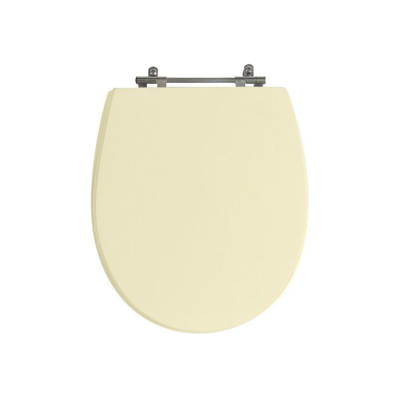 Assento Sanitário Poliéster Para Louça Deca Windsor Liso Creme