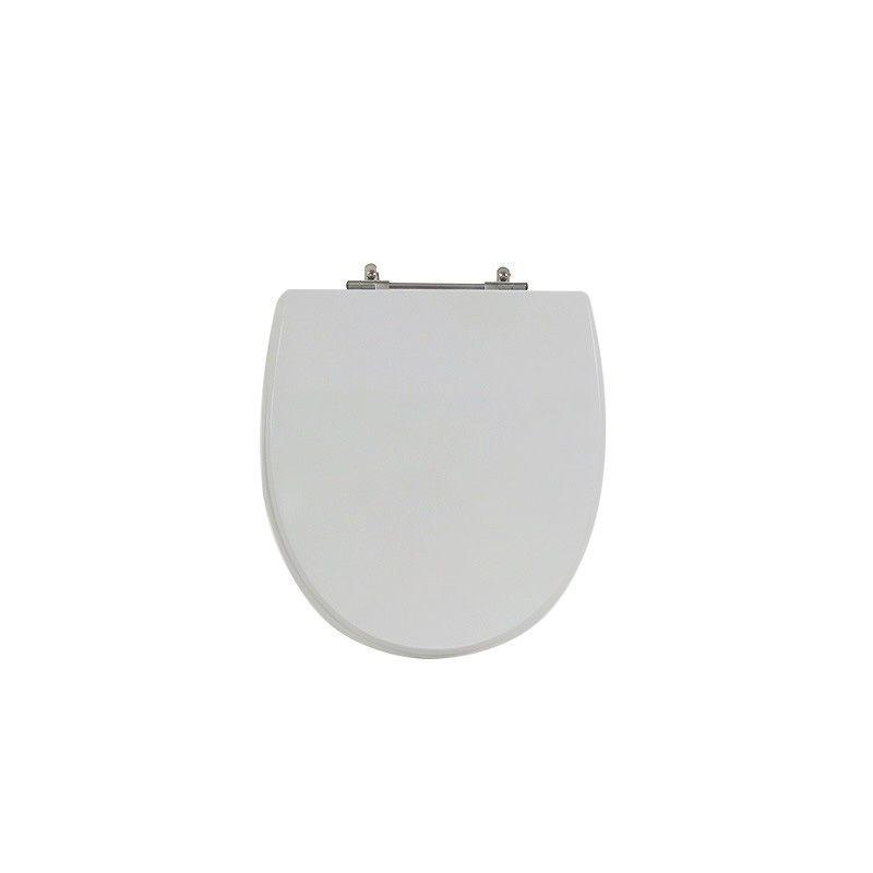 Assento Sanitário Poliéster para Louça Eros (Incepa) Aço Cromado (Reb. Oculto) Cinza Platina