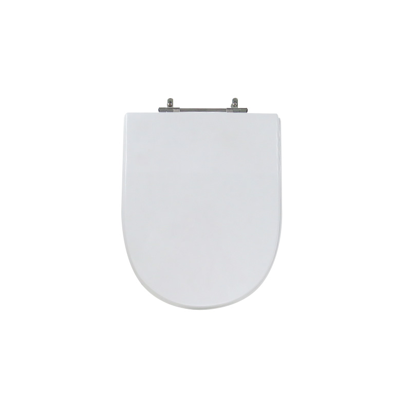 Assento Sanitário Poliéster para Louça Firenze (Icasa) Aço Cromado (Reb. Oculto) Branco