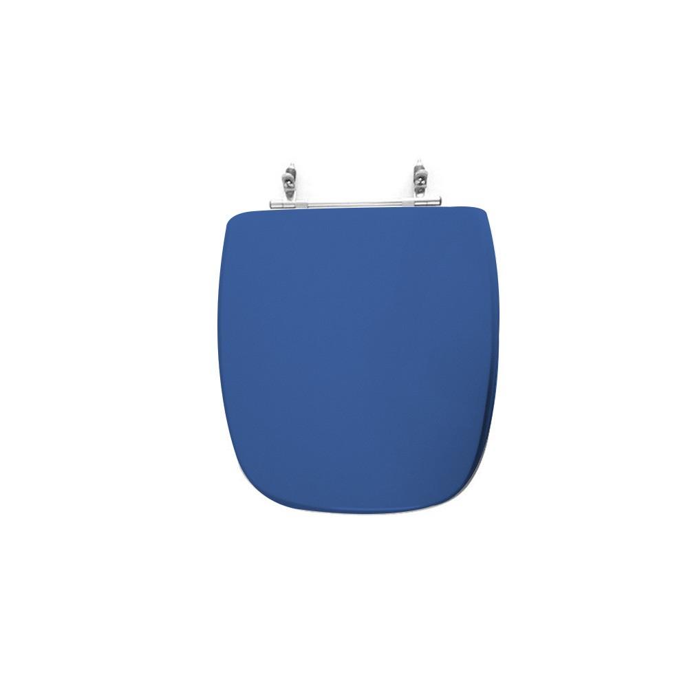 Assento Sanitário Poliéster para Louça Fit/versato (Celite) Aço Cromado (Reb. Oculto) Azul Mineral