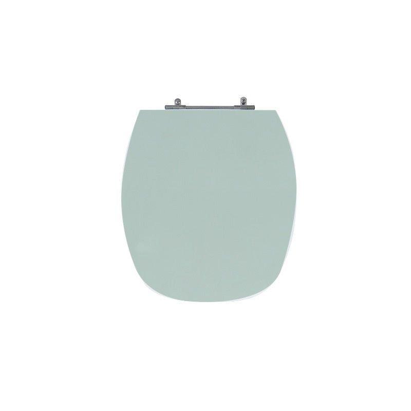 Assento Sanitário Poliéster Para Louça Incepa Thema Liso Verde Agua