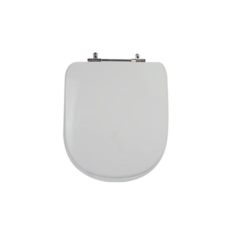 Assento Sanitário Poliéster para Louça Life/Vogue Plus (Celite/Deca) Aço Cromado (Reb. Oculto) Cinza Real