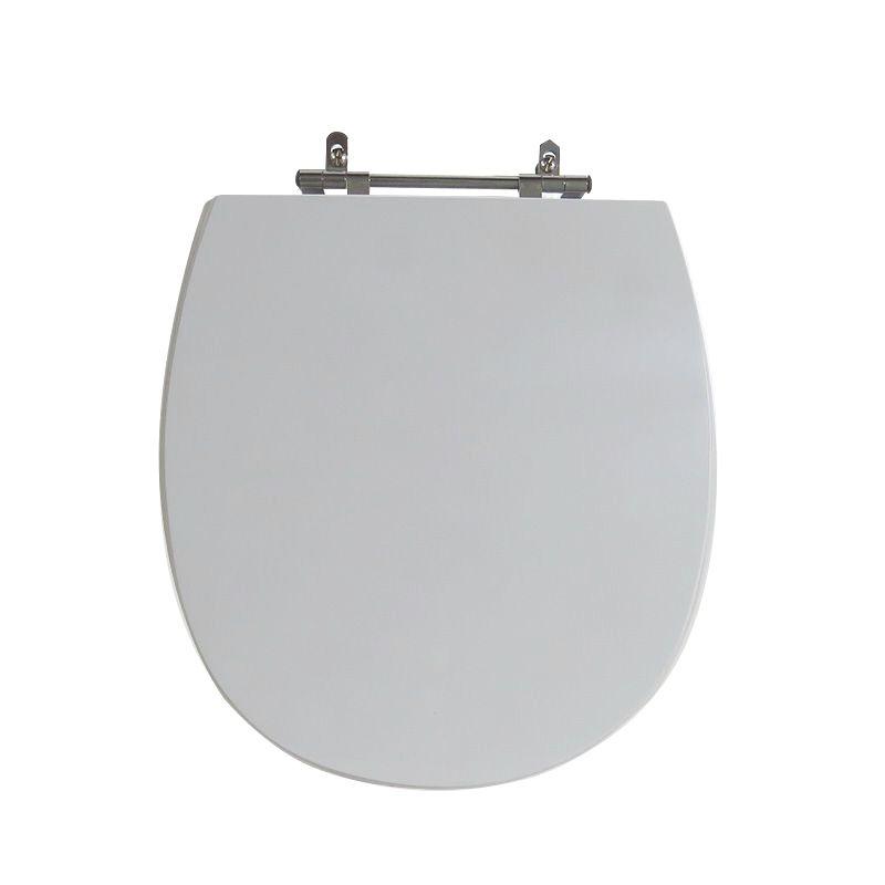 Assento Sanitário Poliéster para Louça Mássima (Incepa) Aço Cromado (Reb. Oculto) Cinza Platina