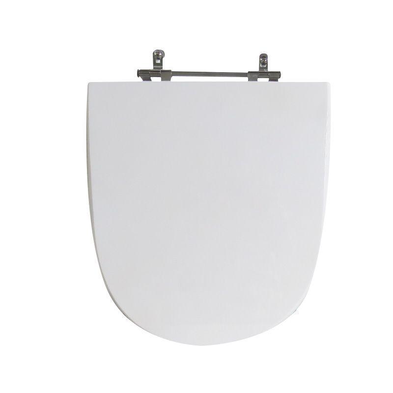 Assento Sanitário Poliéster para Louça Mondiale (Celite) Aço Cromado (Reb. Oculto) Branco