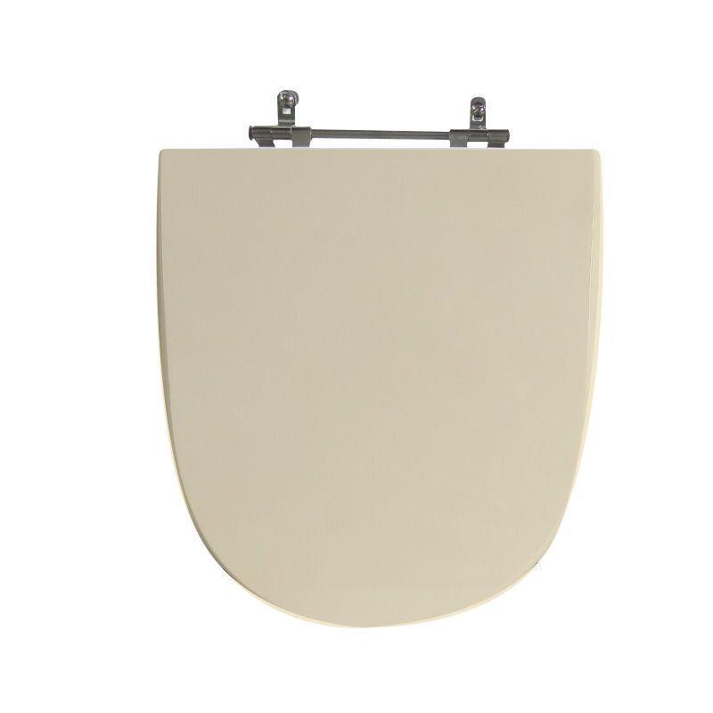 Assento Sanitário Poliéster para Louça Mondiale (Celite) Aço Cromado (Reb. Oculto) Rosato