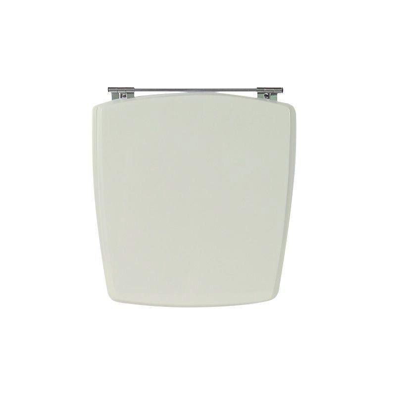 Assento Sanitário Poliéster para Louça Nuage (Incepa) Aço Cromado (Reb. Oculto) Bone