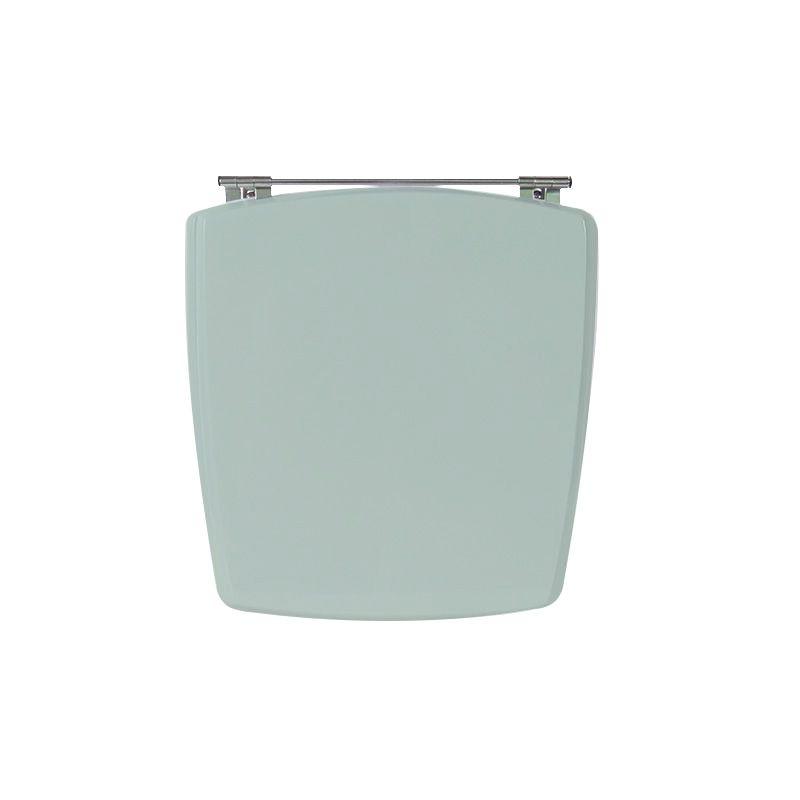 Assento Sanitário Poliéster para Louça Nuage (Incepa) Aço Cromado (Reb. Oculto) Verde Água