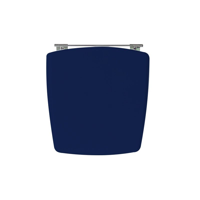 Assento Sanitário Poliéster para Louça Nuage (Incepa) Aço Cromado (Reb. Oculto) Navy