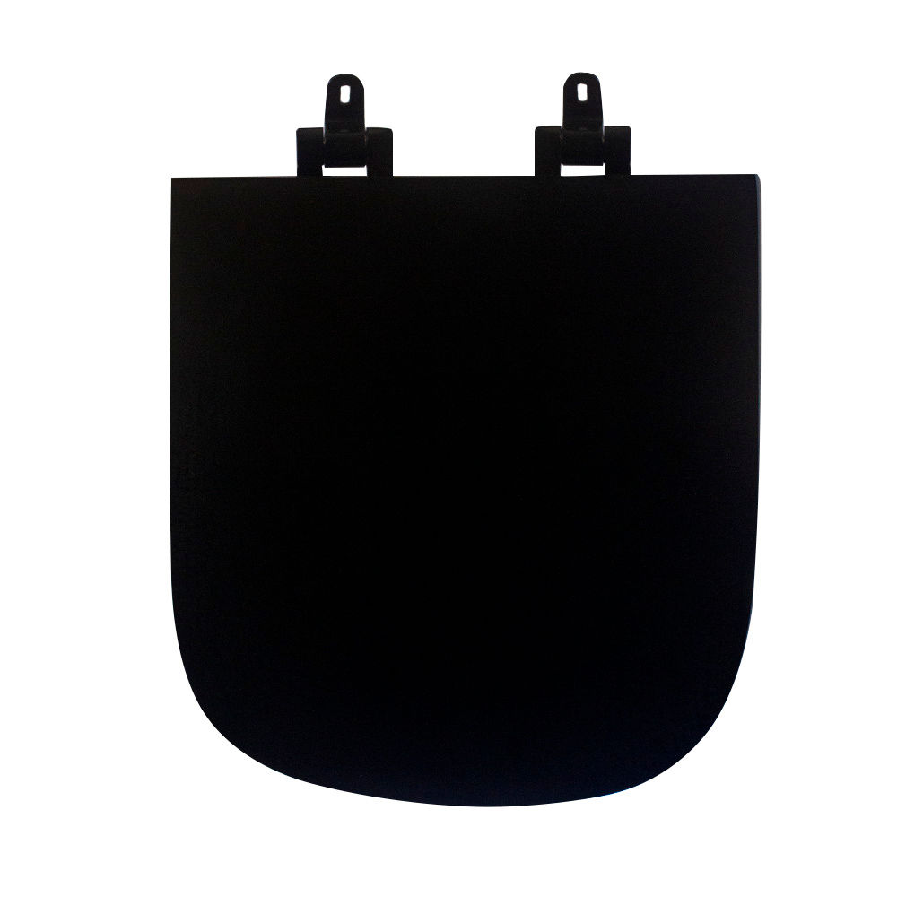 Assento Sanitário Poliéster para Louça Piano (Deca) Slow Close Black Noir (Reb. Oculto) Ébano Fosco