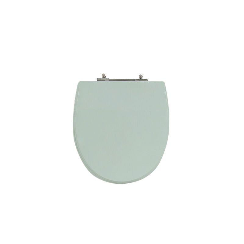 Assento Sanitário Poliéster para Louça Polo (Hervy) Aço Cromado (Reb. Oculto) Verde Aqua