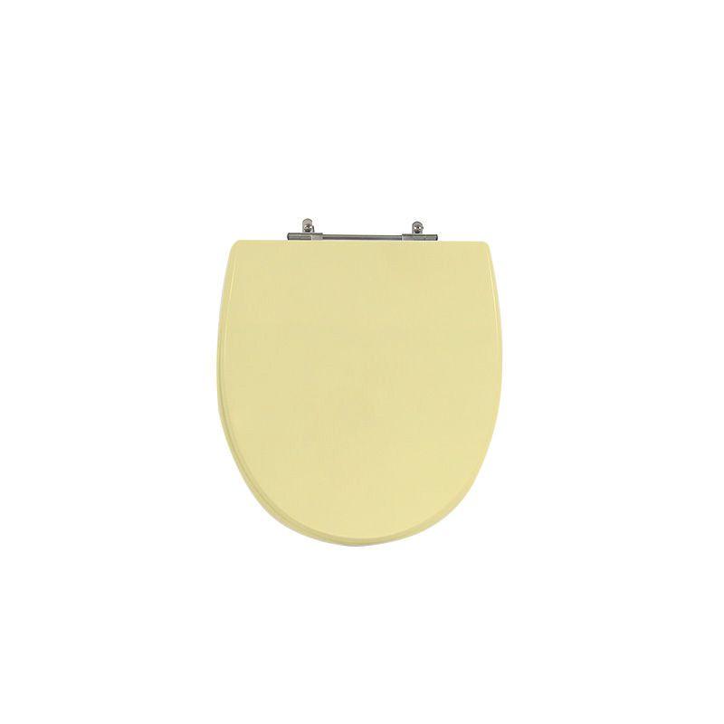 Assento Sanitário Poliéster para Louça Polo (Hervy) Aço Cromado (Reb. Oculto) Marfim