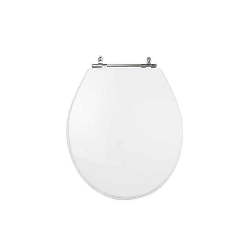 Assento Sanitário Poliéster para Louça Ravena/Izy (Deca) Aço Cromado (Reb. Oculto) Branco