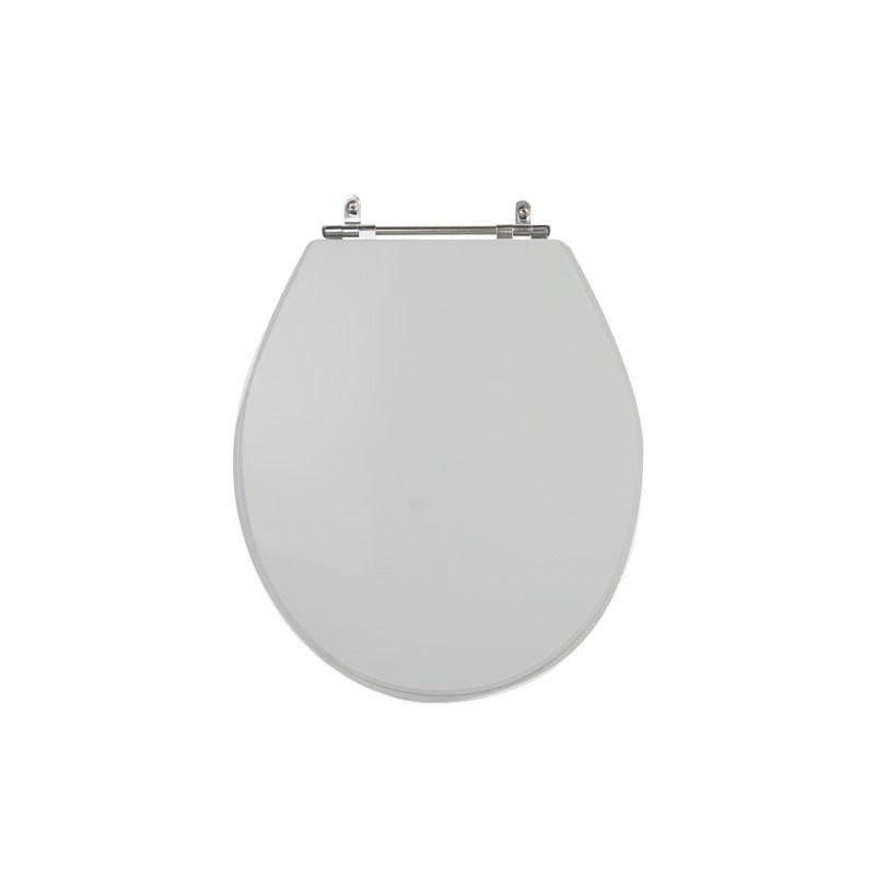 Assento Sanitário Poliéster para Louça Ravena/Izy (Deca) Aço Cromado (Reb. Oculto) Cinza Real