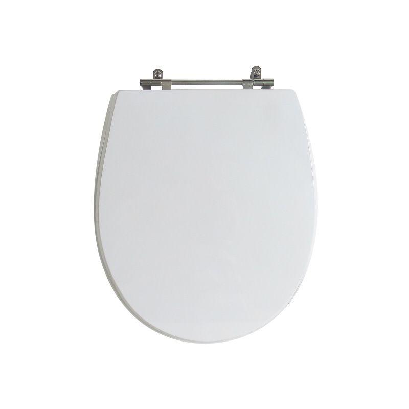 Assento Sanitário Poliéster para Louça Ritz (Deca) Aço Cromado (Reb. Oculto) Branco