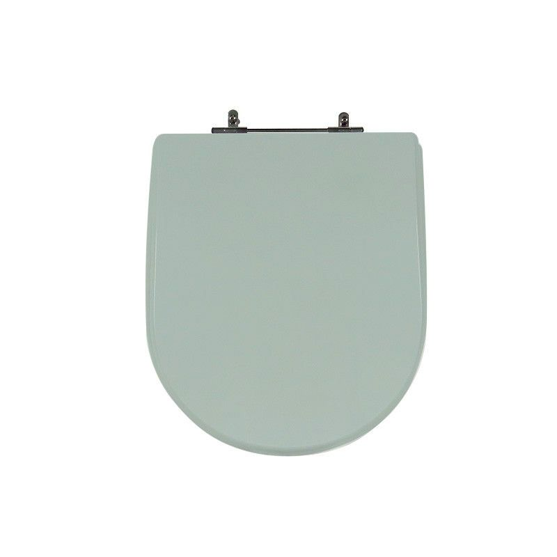 Assento Sanitário Poliéster para Louça Riviera/Smart (Celite) Aço Cromado (Reb. Oculto) Água Marinha