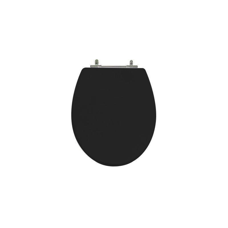 Assento Sanitário Poliéster para Louça Spot (Deca) Aço Cromado (Reb. Oculto) Ébano
