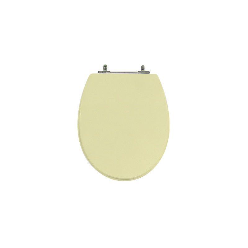 Assento Sanitário Poliéster para Louça Spot (Deca) Aço Cromado (Reb. Oculto) Creme