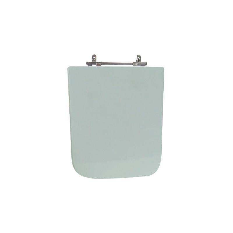 Assento Sanitário Poliéster para Louça Square (Incepa) Aço Cromado (Reb. Oculto) Verde Água