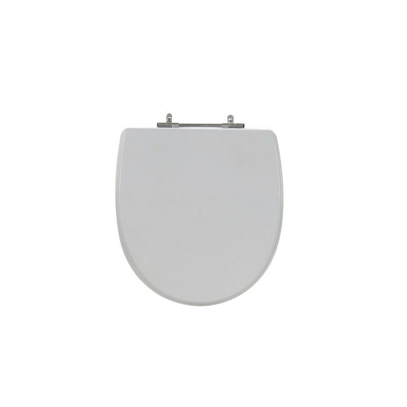 Assento Sanitário Poliéster para Louça Studio (Incepa) Aço Cromado (Reb. Oculto) Cinza Platina