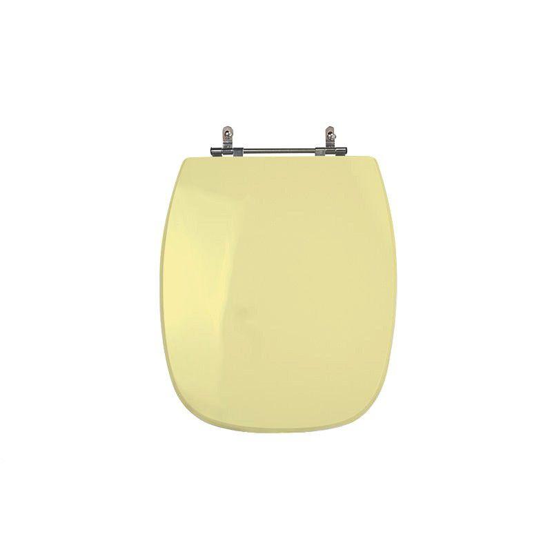 Assento Sanitário Poliéster para Louça Stylus (Celite) Aço Cromado (Reb. Oculto) Marfim