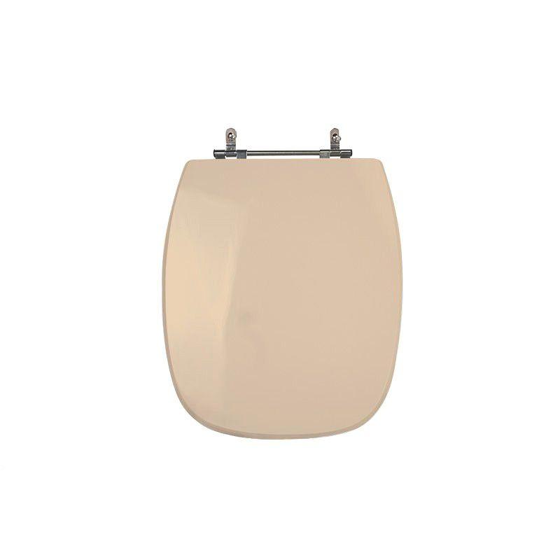 Assento Sanitário Poliéster para Louça Stylus (Celite) Aço Cromado (Reb. Oculto) Pêssego/Rosa Shell