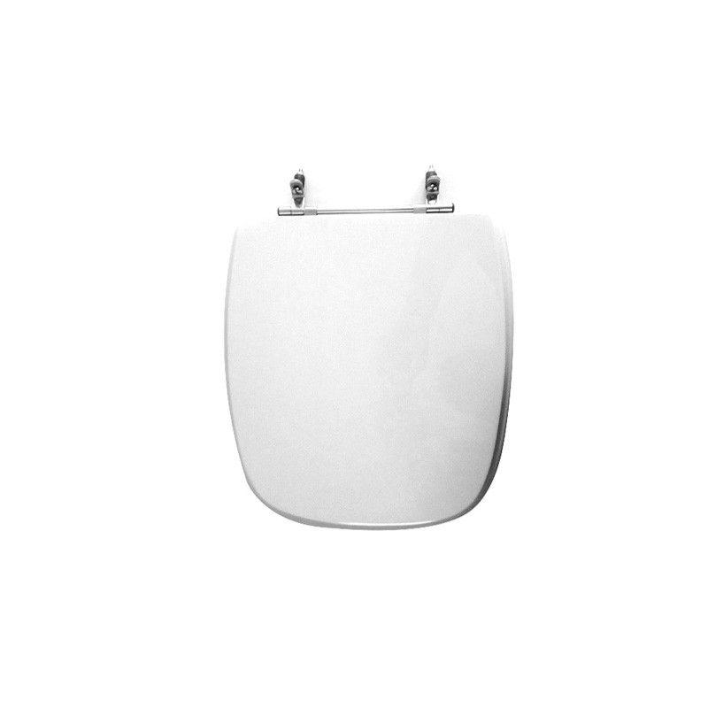 Assento Sanitário Poliéster para Louça Stylus (Celite) Aço Cromado (Reb. Oculto) Branco