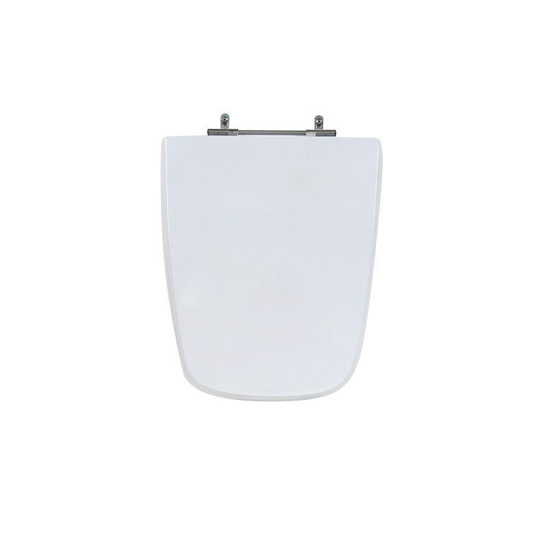 Assento Sanitário Poliéster para Louça Stylus Excellence (Celite) Aço Cromado (Reb. Oculto) Branco