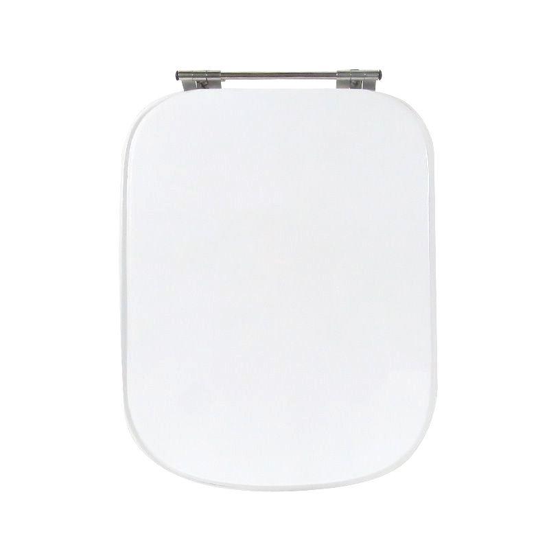 Assento Sanitário Poliéster para Louça Tivoli (Ideal Standard) Aço Cromado (Reb. Oculto) Branco