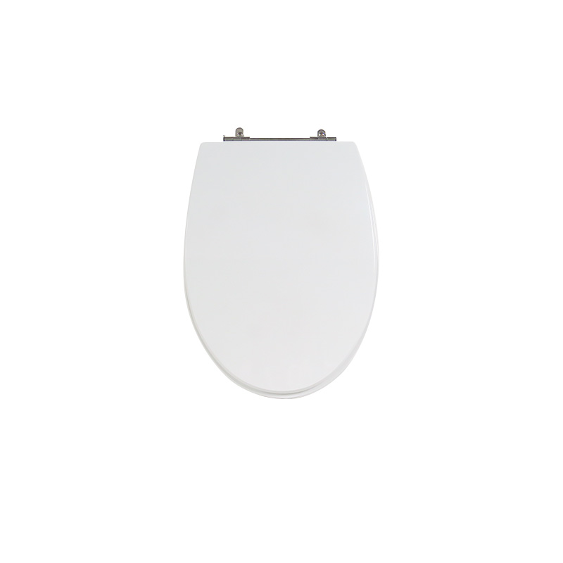 Assento Sanitário Poliéster para Louça Victoria (Ideal Standard) Aço Cromado (Reb. Oculto) Branco