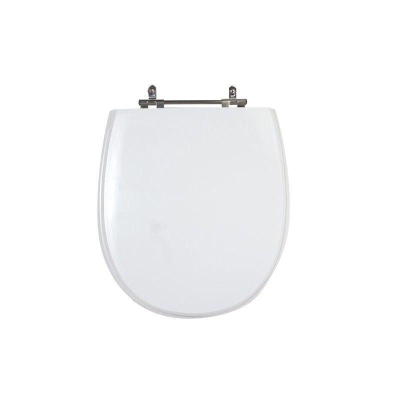 Assento Sanitário Poliéster para Louça Village (Deca) Aço Cromado (Reb. Oculto) Branco