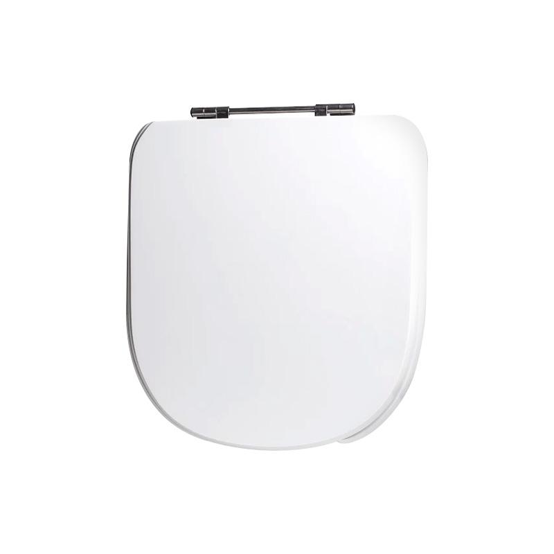 Assento Sanitário Poliéster para Louça Vogue Plus Conforto (Deca) Aço Cromado (Reb. Oculto) Branco