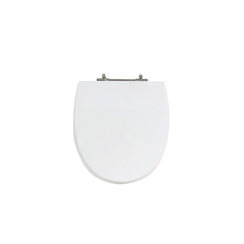 Assento Sanitário Poliéster Para Louça Hervy Polo Liso Branco