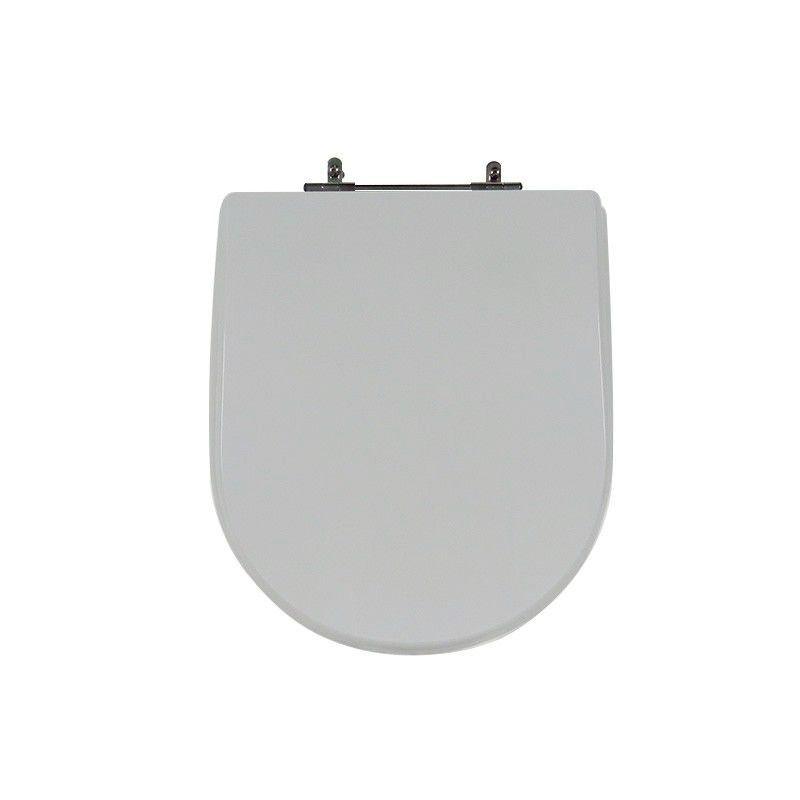 Assento Sanitário Poliéster Para Celite Riviera Plus/Smart Cinza Prata