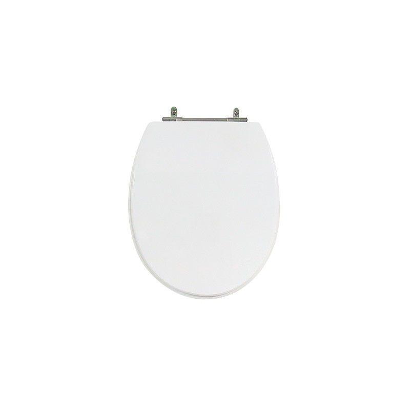 Assento Sanitário Poliéster Para Louça Deca Spot Liso Branco