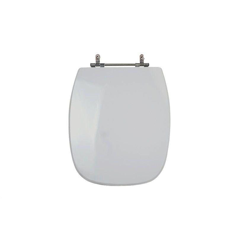 Assento Sanitário Poliéster Para Louça Celite Styllus Liso Cinza Prata