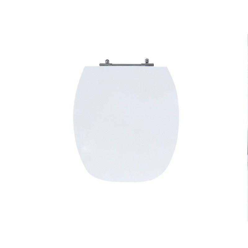 Assento Sanitário Poliéster Para Louça Incepa Thema Liso Branco