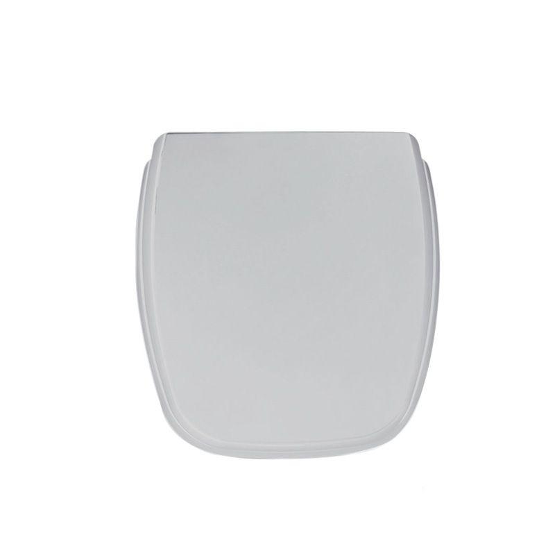 Assento Sanitário Polipropileno Soft Close Fit Cinza Prata Celite