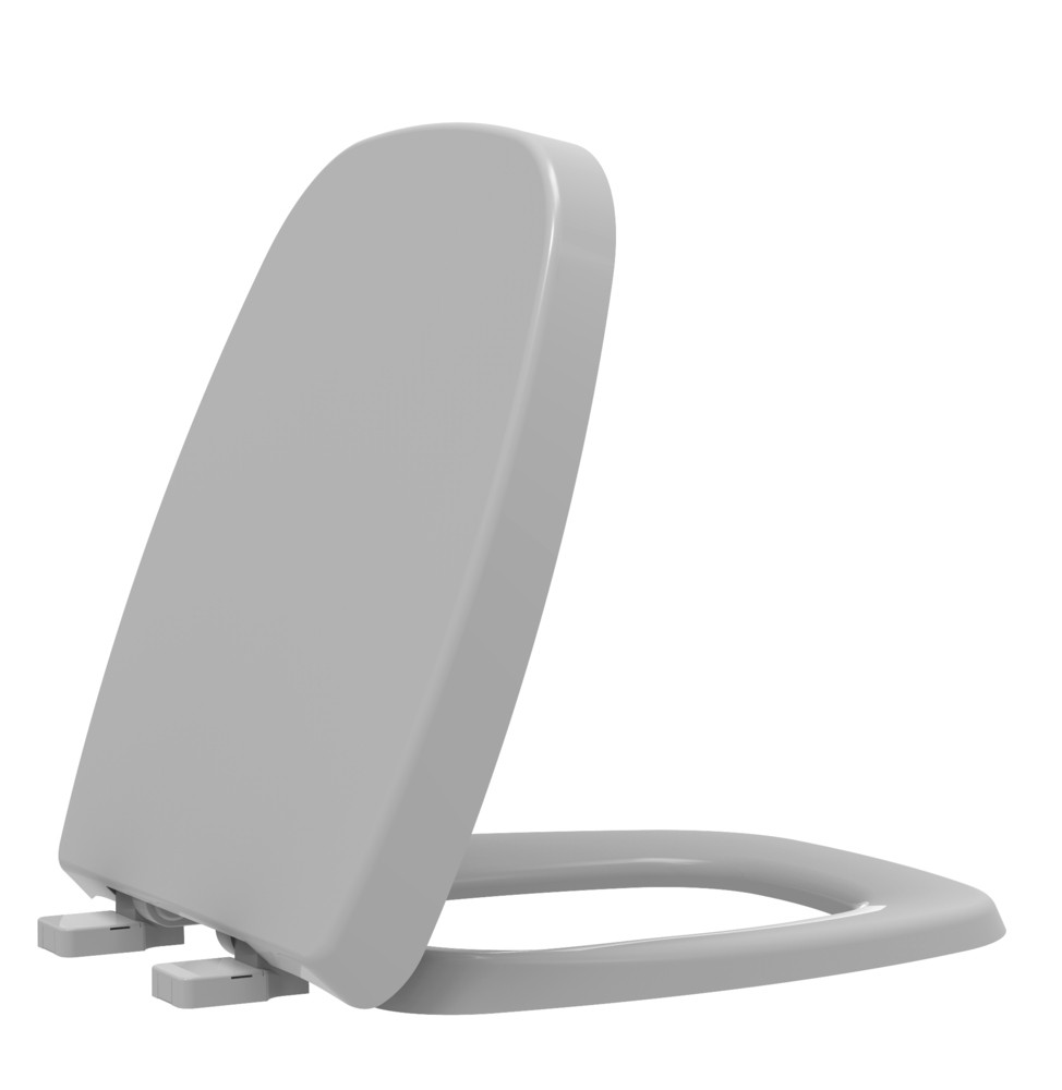 Assento Sanitário Termofixo Fit/Versato/Savary Cinza Prata