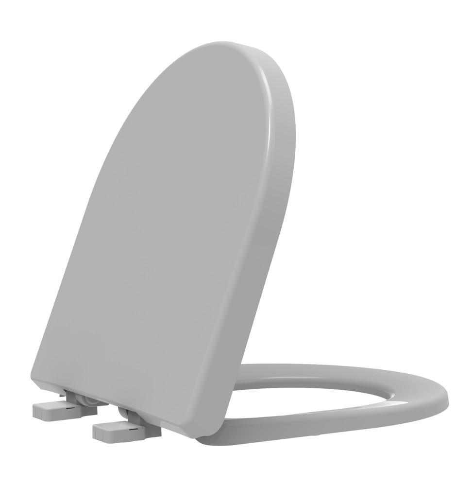 Assento Sanitário Termofixo Riviera/Smart/Nexo Cinza Prata